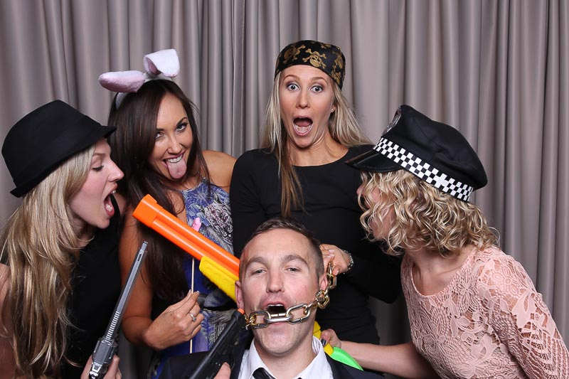 Hire a photo booth for your Valentine's day party and get all the girls in the photo booth!