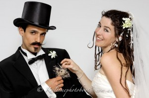 Brides just want to have fun in our photo booths!