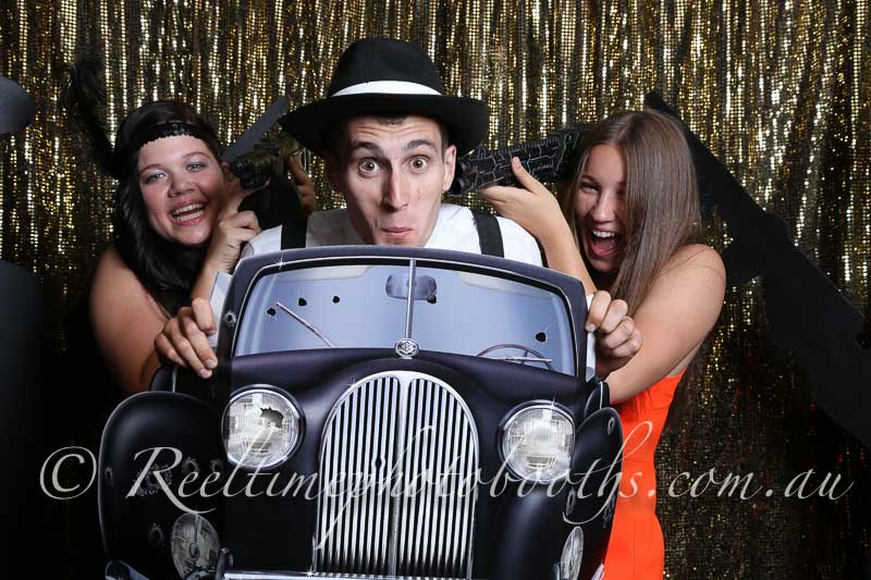 Engagement photo booth - Getaway car
