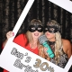 Hire a photobooth for a milestone birthday party